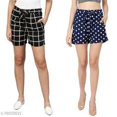 Shorts My Swag Women Combo Of 2  Regular Shorts Fabric: Crepe Pattern: Printed Multipack: 2 Sizes:  28 (Waist Size: 28 in Length Size: 25 in)  30 (Waist Size: 30 in Length Size: 25 in)  32 (Waist Size: 32 in Length Size: 25 in)  34 (Waist Size: 34 in Length Size: 25 in)  36 (Waist Size: 36 in Length Size: 25 in)  38 (Waist Size: 38 in Length Size: 25 in) Country of Origin: India Sizes Available: 24, 26, 28, 30, 32, 34, 36, 38, 40, 42   Catalog Rating: ★3.9 (2333)  Catalog Name: Ravishing Fabulous Women Shorts CatalogID_1291853 C79-SC1038 Code: 492-18553833-786