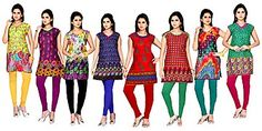 Set of 8 Kurties with 8 Leggings at Rs 1999 only
