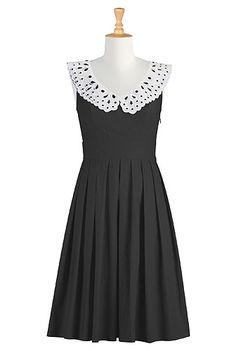 Collared poplin dress- In love with it!