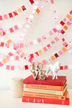 Items similar to Sugary Sweet Kisses Wedding Paper GARLAND, Home Decor, Birthday, Bridal Shower, Wedding on Etsy Party Garland, Bunting Garland, Diy Garland, Garland Wedding, Garland Ideas, Paper Garlands, Buntings, My Funny Valentine, Valentines
