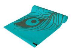 Amazon.com: Wai Lana Yoga and Pilates Mat, Peacock Feather (Aqua):  For meditation/yoga room