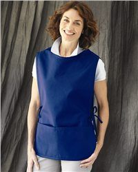 """Liberty Bags - Cobbler Apron - 5506  View Size Specification  Catalog Page: 512        9.0 oz., 65/35 cotton/polyester      Two pockets with a pencil slot on one      Size: 19"""" x 28"""""""