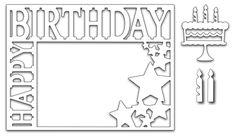 Frantic Stamper - Precision Dies - Happy Birthday Frame (set of 4 dies),$25.99