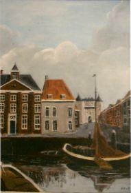 De oude haven 'Kaai' Bergen op Zoom, olieverf.jpg
