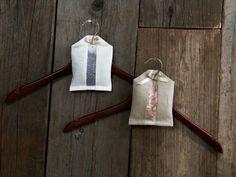Linen Hanger Sachets filled with lavender or cedar....makes a closet smell…