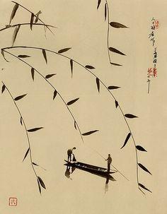 """sumi-no-neko: """"by Don Hong-Oai (1929—2004) """""""