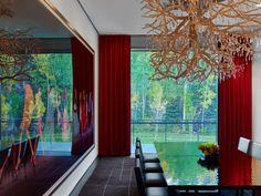 Dining Room Decor Plan At Aspen Art House Applied Artistic Chandelier