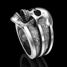 Skull ring. Sterling silver handmade skull rings.