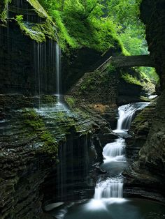 Waterfalling, Watkins Glen, New York