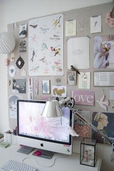 Clean desk policy: Dit geheel is zo wit dat de iMac bijna niet opvalt…