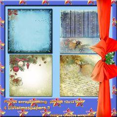 Welkom bij Creative Scrapmom: Fun in Scrapbooking 4 christmaspapers 3.