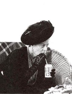 Maggie Smith drinking Diet Coke from a straw in full Dowager garb. Your argument is inconsequential.