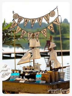 FoodTableFramed. What about adding their pirate's playmobil boat on the table ?