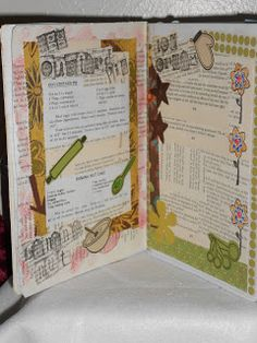 The Altered Book Playground: Altered Recipe Book
