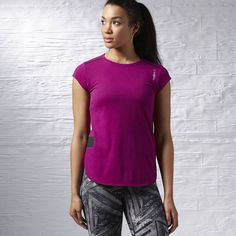 Reebok ONE Series Babydoll Tee - Purple