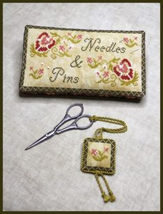 Milady's Needle - Garden Delight pin cushion and fob.