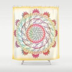 Mandala pastel vibes shower curtain