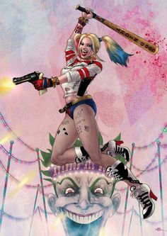 Good Night Puddin' - - - - Joker, Harley Quinn, and Company - Harley Quinn Tattoo, Der Joker, Harley Quinn Drawing, Joker Und Harley Quinn, Margot Robbie Harley Quinn, Harley Quinn Cosplay, Comic Books Art, Comic Art, Harley Quenn