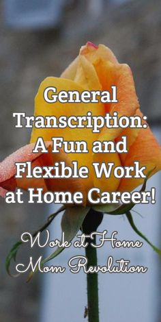 General Transcription: A Fun and Flexible Work at Home Career! / Work at Home Mom Revolution Flexible Working, You Working, Work From Home Moms, Make Money From Home, Resume Advice, Computer Jobs, Medical Transcription, Find A Career, I Gen