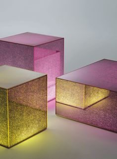 """""""Light and glass are intertwined matter, and Glas Italia plays with this alchemy in its modern glass furniture."""" Artists, inspirations, design, art, contemporary art, contemporary design. 