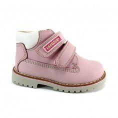 Botines de niñas tipo explorador en rosa melocotón