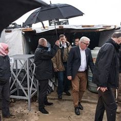 German Minister of Foreign Affairs visits a Syrian refugee camp near Zahle in Lebanon