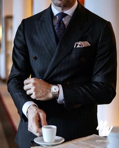 showcasing a double breasted suit, with Mens Style Guide, Well Dressed Men, Uk Fashion, Bollywood Fashion, Double Breasted Suit, Fashion Addict, Gentleman, Suit Jacket, Menswear