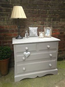 Laura Ashley Pale French Grey Chest Of Drawers