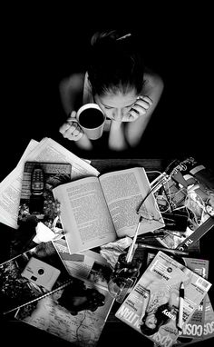 Moment. This is so me sometimes. A mess around me, but I get lost in whatever I'm doing. Me & my coffee.