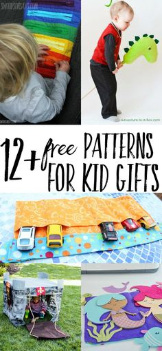 Looking for ideas on what to sew for kid gifts? I have 12+ free tutorials and patterns that will delight the toddlers and preschoolers in your life! Free toy sewing patterns don't have to be fussy, check these out and get making. #sewingkidsgifts #sewingtoys