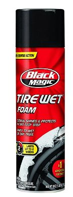 Black Magic Tire Wet Foam The 18 oz can of Black Magic Tire Wet Foam cleans, shines and protects in one easy step. It's effective on both wet and dry surfaces. One can of Black Magic tire shine cleans up to 36 tires. Best Tire Shine, Best Tyres, Self Healing, Car Wheels, Black Magic, Wet And Dry, Portrait, How To Apply, Cleaning