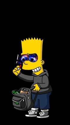 Simpsons Drawings, Simpsons Art, Simpson Wallpaper Iphone, Cartoon Wallpaper Iphone, Dope Cartoons, Dope Cartoon Art, Hypebeast Iphone Wallpaper, Rick And Morty Poster, Mode Poster