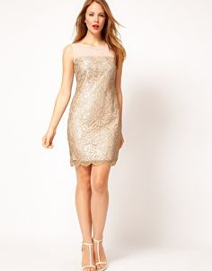 Enlarge Coast Duanna Lace Dress in Gold