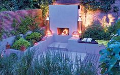 A fireplace or fire bowl can provide a great outdoor focus – just make sure   it doesn't create too much smoke
