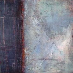 Linda Coppens - Beneath the surface n°11 oil & cold wax on wooden panel (40 x 40 cm)- SOLD
