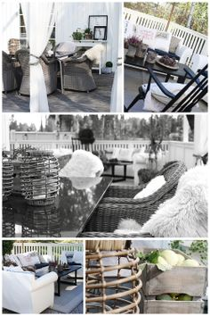Outdoor, rustic veranda with lounge furnitures from Kartell.