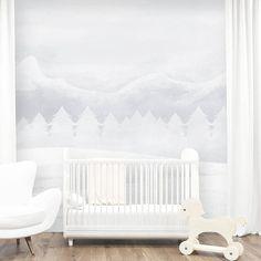 Snowy Mountains Wallpaper Mural