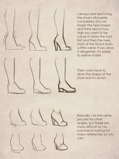 High Heel Tutorial #Drawingtips