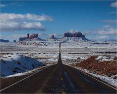 Amazing Road rare site snow in AZ