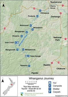 whanganui river map new zealand Google Search Maps Pinterest