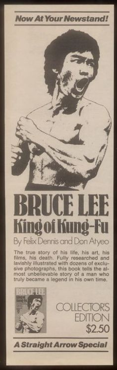 I have This Awesome Book, A Must Have for any Bruce Lee Fans. Ad for Bruce Lee King of Kung Fu book (1974)