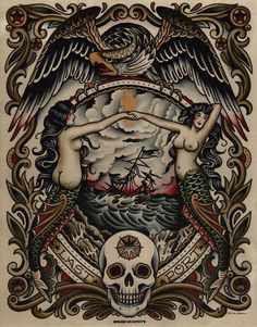 Image result for americana siren tattoo