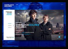 Sherlock TV Series   User Interface on Behance