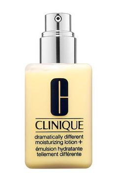 Clinique Dramatically Different Moisturizing Lotion. This classic was reformulated in 2013 with an extra barrier-strengthening complex as well as moisturizing hyaluronic acid, glycerine, and urea to target dry, freckly, or uneven skin.