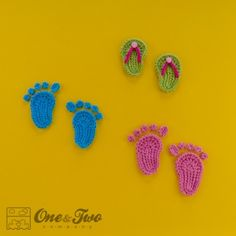 I just love these baby footprints and thongs from One and Two Company!