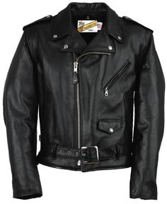 Classic Perfecto Leather Motorcycle Jacket by Schott NYC
