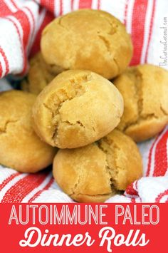 autoimmune paleo dinner rolls // thecuriouscoconut.com #paleo #aip #bread #thanksgiving #holidays