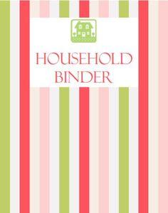 Household Binder Coversheet