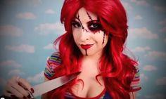 sexy chuky halloween makeup