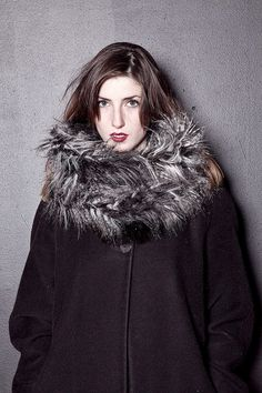 Crazy Shaggy Faux Fur Tube Scarf by newwavenatives on Etsy